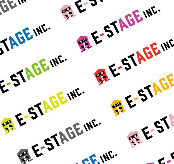 『株式会社E-ステージ』ロゴデザイン カラーバリエーション
